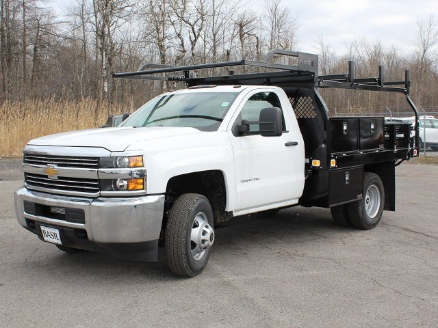 2017 Silverado 3500 Regular Cab DRW 4x4,  Knapheide Contractor Body #17C128T - photo 3