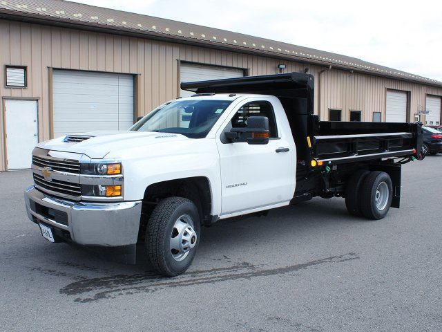 2018 Silverado 3500 Regular Cab DRW 4x4,  Air-Flo Dump Body #18C114T - photo 3