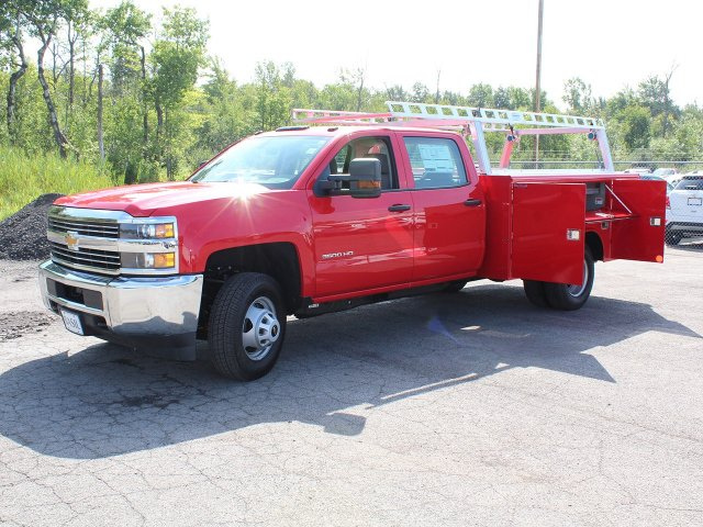 2018 Silverado 3500 Crew Cab DRW 4x4,  Reading Service Body #18C172T - photo 13