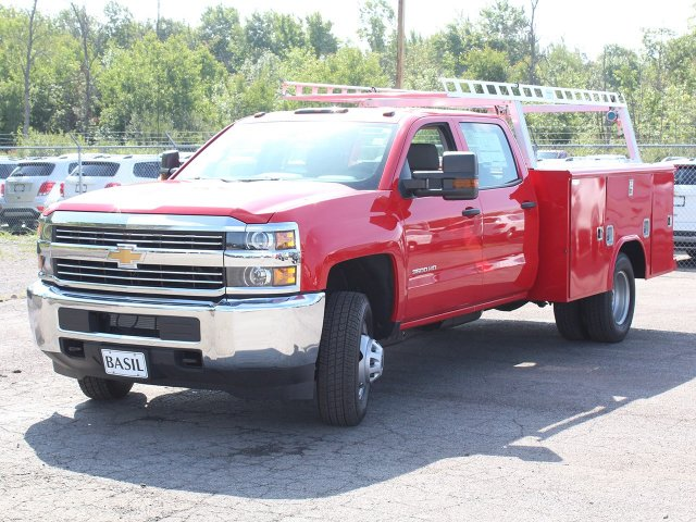 2018 Silverado 3500 Crew Cab DRW 4x4,  Reading Service Body #18C172T - photo 9