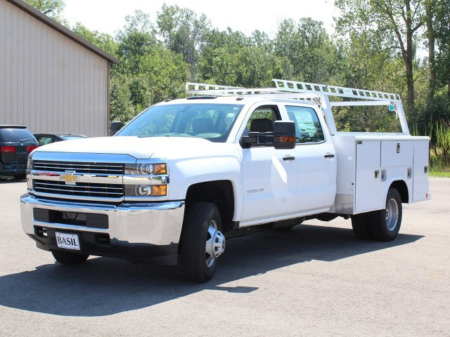 2018 Silverado 3500 Crew Cab DRW 4x4,  Reading Service Body #18C173T - photo 9