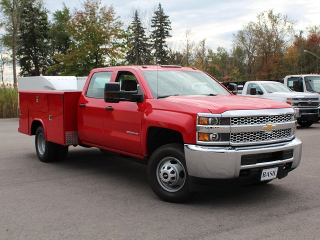 2019 Silverado 3500 Crew Cab DRW 4x4,  Reading Service Body #19C28T - photo 10