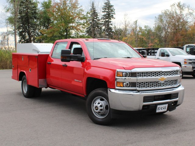2019 Silverado 3500 Crew Cab DRW 4x4,  Reading Service Body #19C28T - photo 12
