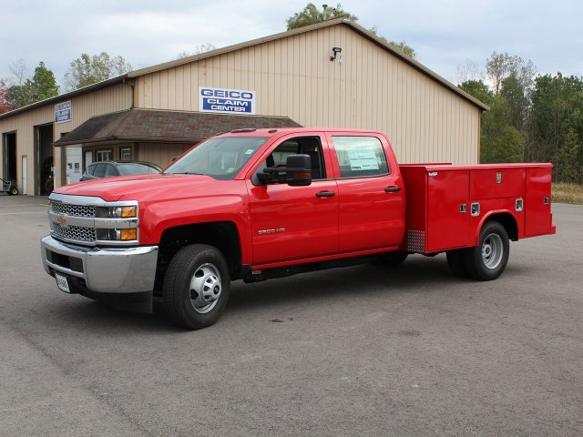 2019 Silverado 3500 Crew Cab DRW 4x4,  Reading Service Body #19C28T - photo 3
