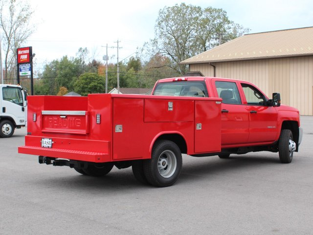 2019 Silverado 3500 Crew Cab DRW 4x4,  Reading Service Body #19C28T - photo 2