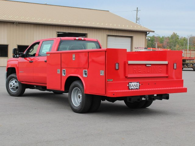 2019 Silverado 3500 Crew Cab DRW 4x4,  Reading Service Body #19C28T - photo 8