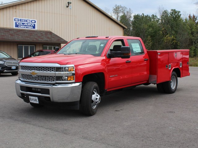 2019 Silverado 3500 Crew Cab DRW 4x4,  Reading Service Body #19C28T - photo 9
