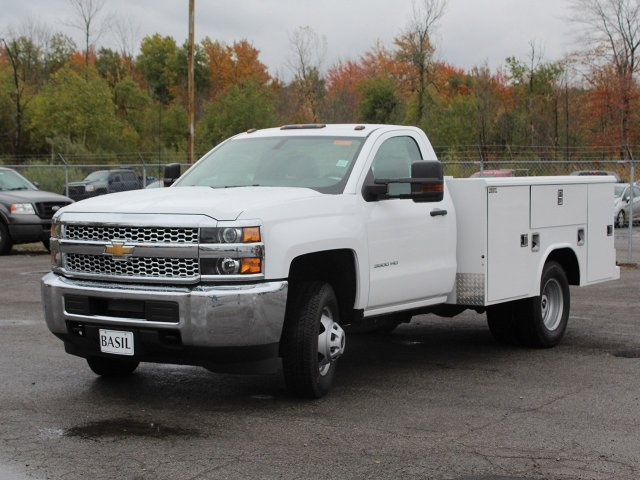 2019 Silverado 3500 Regular Cab DRW 4x4,  Reading Service Body #19C34T - photo 12