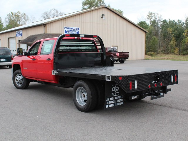 2019 Silverado 3500 Crew Cab DRW 4x4,  Commercial Truck & Van Equipment Platform Body #19C35T - photo 8