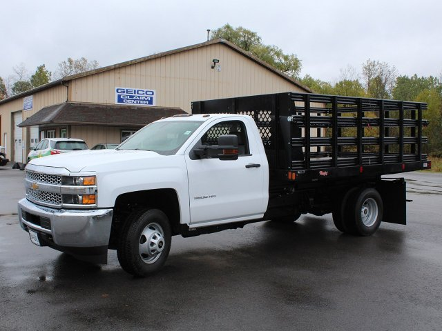 2019 Silverado 3500 Regular Cab DRW 4x4,  Reading Stake Bed #19C37T - photo 3