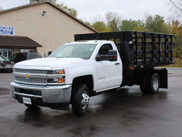 2019 Silverado 3500 Regular Cab DRW 4x4,  Reading Stake Bed #19C37T - photo 9