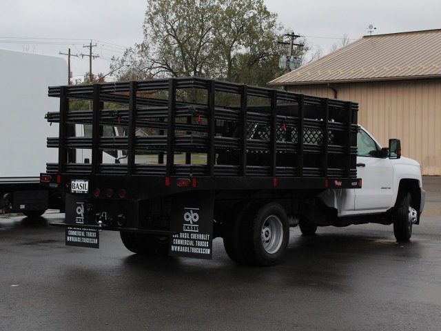 2019 Silverado 3500 Regular Cab DRW 4x4,  Rugby Stake Bed #19C39T - photo 12