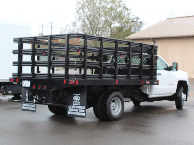 2019 Silverado 3500 Regular Cab DRW 4x4,  Rugby Stake Bed #19C39T - photo 13