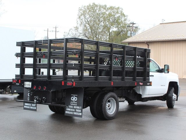 2019 Silverado 3500 Regular Cab DRW 4x4,  Rugby Stake Bed #19C39T - photo 2