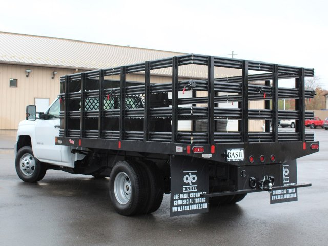2019 Silverado 3500 Regular Cab DRW 4x4,  Rugby Stake Bed #19C39T - photo 8