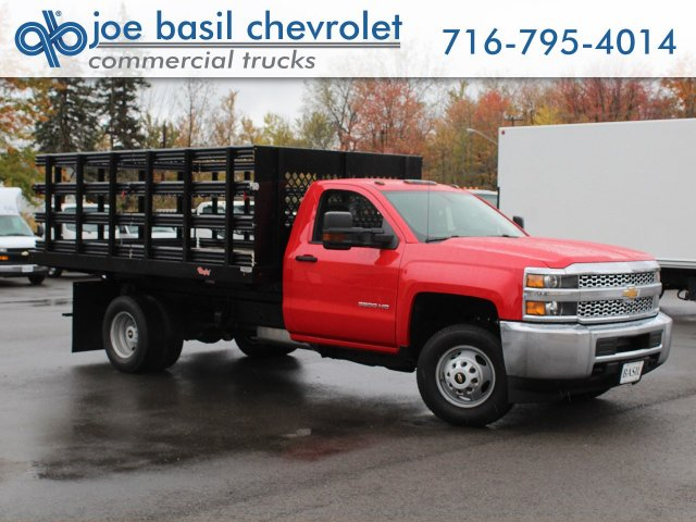 2019 Silverado 3500 Regular Cab DRW 4x4,  Rugby Series 2000 Stake Bed #19C40T - photo 1