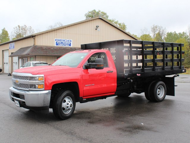 2019 Silverado 3500 Regular Cab DRW 4x4,  Rugby Stake Bed #19C40T - photo 3