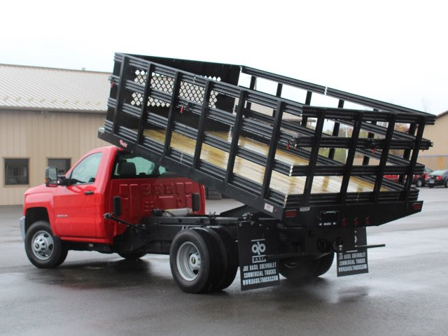 2019 Silverado 3500 Regular Cab DRW 4x4,  Rugby Stake Bed #19C40T - photo 21