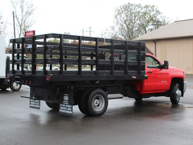 2019 Silverado 3500 Regular Cab DRW 4x4,  Rugby Stake Bed #19C40T - photo 2