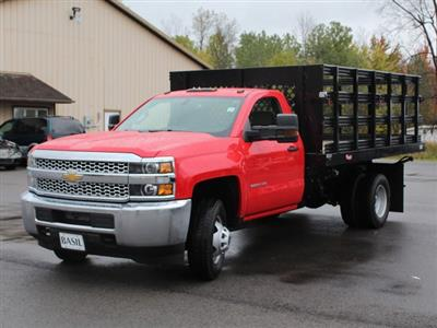 2019 Silverado 3500 Regular Cab DRW 4x4,  Rugby Series 2000 Stake Bed #19C40T - photo 10