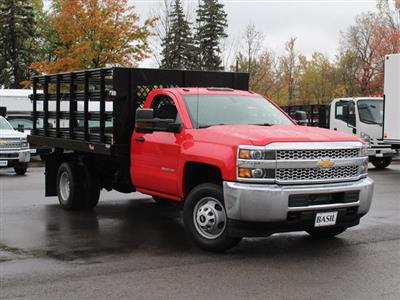 2019 Silverado 3500 Regular Cab DRW 4x4,  Rugby Series 2000 Stake Bed #19C40T - photo 12