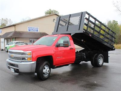 2019 Silverado 3500 Regular Cab DRW 4x4,  Rugby Series 2000 Stake Bed #19C40T - photo 15