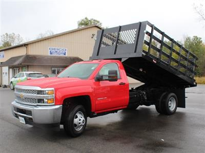 2019 Silverado 3500 Regular Cab DRW 4x4,  Rugby Series 2000 Stake Bed #19C40T - photo 17