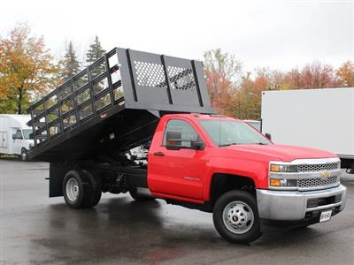 2019 Silverado 3500 Regular Cab DRW 4x4,  Rugby Series 2000 Stake Bed #19C40T - photo 18