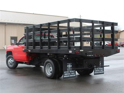 2019 Silverado 3500 Regular Cab DRW 4x4,  Rugby Series 2000 Stake Bed #19C40T - photo 8