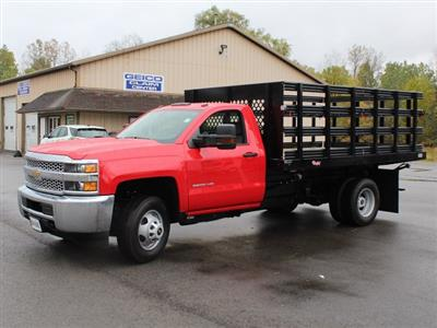 2019 Silverado 3500 Regular Cab DRW 4x4,  Rugby Series 2000 Stake Bed #19C40T - photo 9
