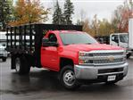 2019 Silverado 3500 Regular Cab DRW 4x4,  Rugby Series 2000 Stake Bed #19C40T - photo 13