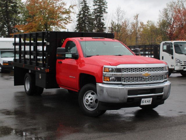 2019 Silverado 3500 Regular Cab DRW 4x4,  Rugby Stake Bed #19C41T - photo 10