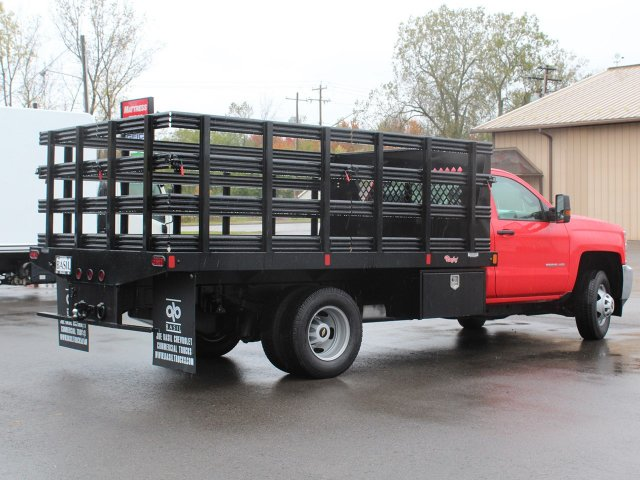 2019 Silverado 3500 Regular Cab DRW 4x4,  Rugby Stake Bed #19C41T - photo 2