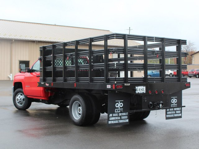 2019 Silverado 3500 Regular Cab DRW 4x4,  Rugby Stake Bed #19C41T - photo 8