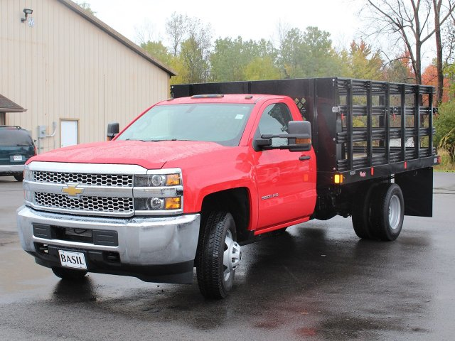 2019 Silverado 3500 Regular Cab DRW 4x4,  Rugby Stake Bed #19C41T - photo 9