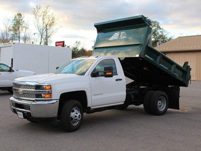 2019 Silverado 3500 Regular Cab DRW 4x4,  Crysteel Dump Body #19C44T - photo 15