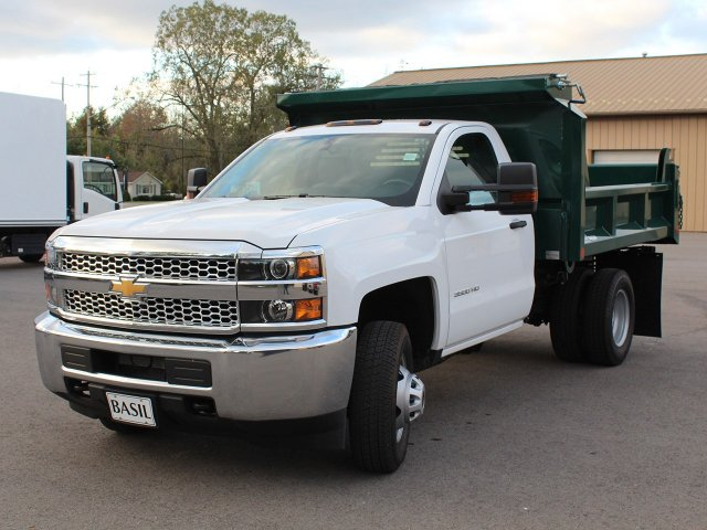 2019 Silverado 3500 Regular Cab DRW 4x4,  Crysteel Dump Body #19C44T - photo 9