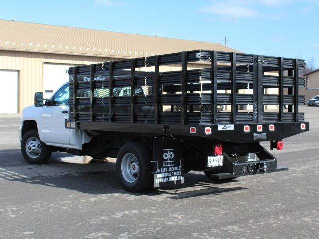 2019 Silverado 3500 Regular Cab DRW 4x2,  Knapheide Value-Master X Stake Bed #19C63T - photo 8