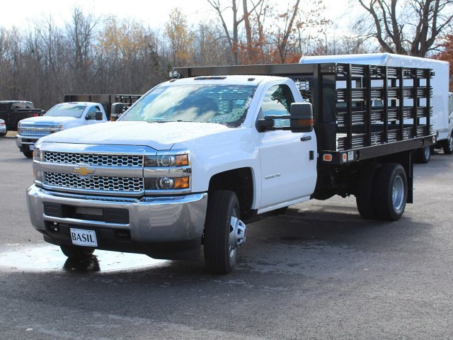 2019 Silverado 3500 Regular Cab DRW 4x2,  Knapheide Stake Bed #19C63T - photo 9
