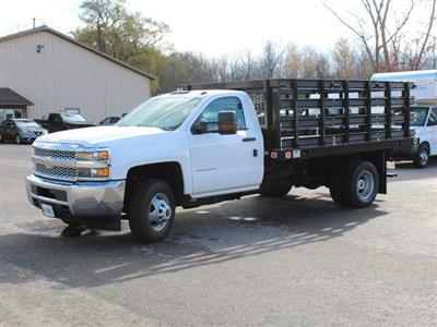 2019 Silverado 3500 Regular Cab DRW 4x2,  Knapheide Value-Master X Stake Bed #19C63T - photo 3