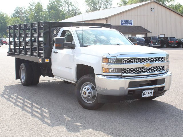 2019 Silverado 3500 Regular Cab DRW 4x2,  Knapheide Stake Bed #19C8T - photo 10
