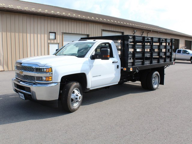2019 Silverado 3500 Regular Cab DRW 4x2,  Knapheide Stake Bed #19C8T - photo 3