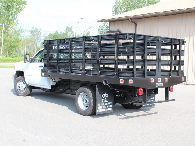 2019 Silverado 3500 Regular Cab DRW 4x2,  Knapheide Stake Bed #19C8T - photo 8