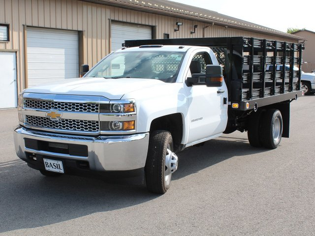 2019 Silverado 3500 Regular Cab DRW 4x2,  Knapheide Stake Bed #19C8T - photo 9