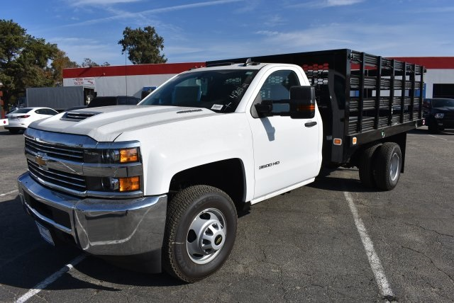2017 Silverado 3500 Regular Cab DRW, Knapheide Value-Master X Flat/Stake Bed #M171126 - photo 5