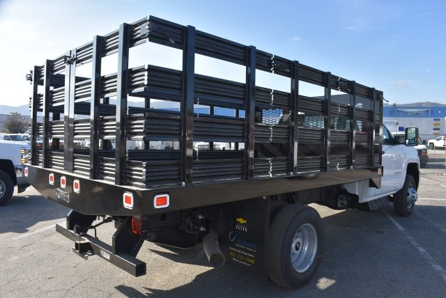 2017 Silverado 3500 Regular Cab DRW, Knapheide Value-Master X Flat/Stake Bed #M171126 - photo 2