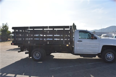 2017 Silverado 3500 Regular Cab DRW, Knapheide Value-Master X Flat/Stake Bed #M171126 - photo 9