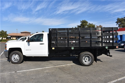 2017 Silverado 3500 Regular Cab DRW, Knapheide Value-Master X Flat/Stake Bed #M171126 - photo 6