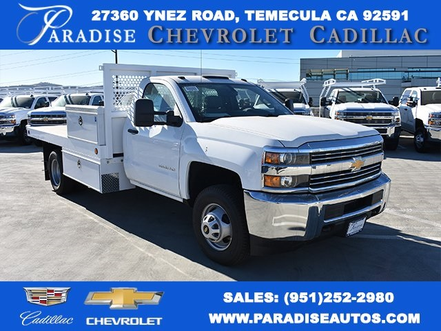 2017 Silverado 3500 Regular Cab DRW,  Royal Flatbed Bodies Platform Body #M171142 - photo 1