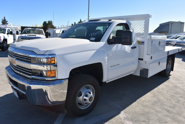 2017 Silverado 3500 Regular Cab DRW,  Royal Flatbed Bodies Platform Body #M171142 - photo 4